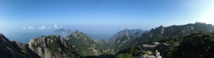 Panoramic view of Huang Shan (Yellow mountain), China