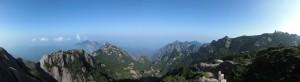Panoramic view of Huang Shan (Yellow mountain), China