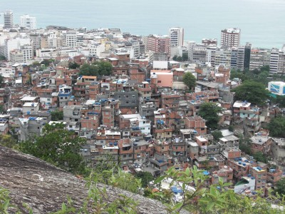 Favela near Copacabana