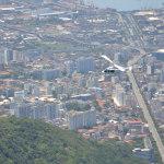 Chopper flying over Sim City
