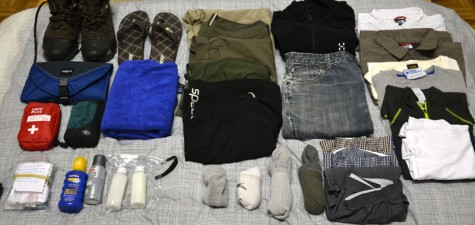 Main backpack contents