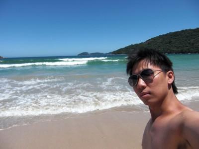 At the beach!