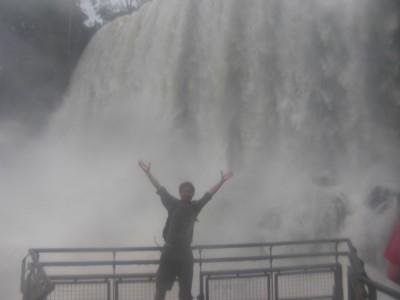 Asian at the waterfall!