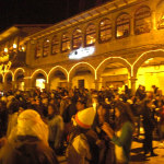 Some of the people on Plaza de Armas on NYE