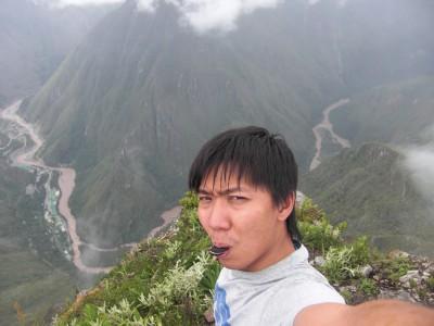 Eating Oreo cookies at top of Machu Picchu mountain like a boss!