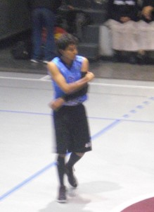 Peruvian Anth. with long socks & shooting sleeve. Got benched soon after