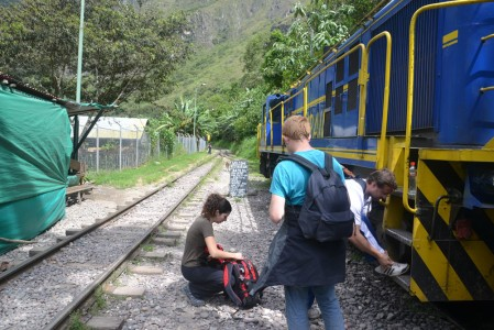 Getting ready for the hike to Aguas Calientes