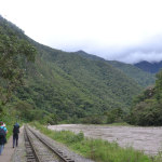 On our way to Machu Picchu, with the raging river next to us
