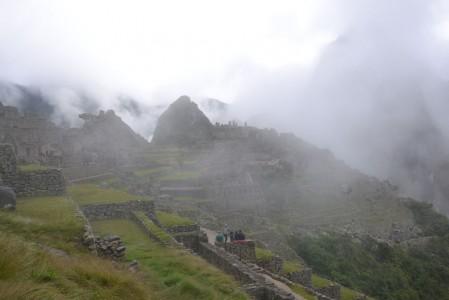 First view/impression of Machu Picchu