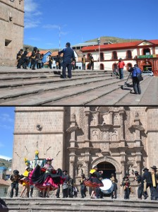 Shooting a new MTV video on the main plaza in Puno