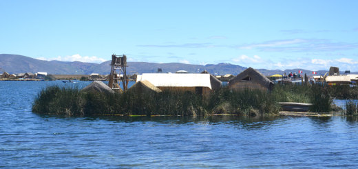 One of the floating islands on Uros