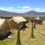 Housing on one of the Uros Islands