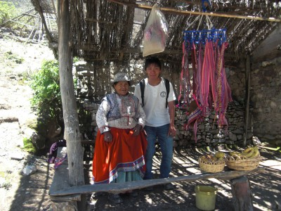 One of the cactusfruit vendors in the canyon