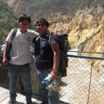 Me and one of my hiking partners William at the overpass bridge