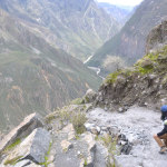 My hikingpartner Alexandra conquering the rocks!