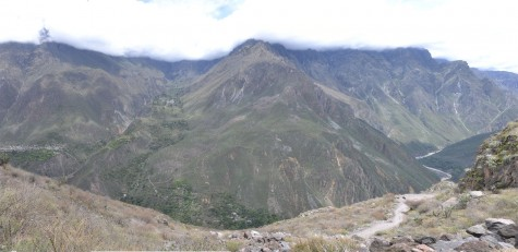 Panoramic view from the top after leaving Sangalle