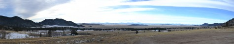 Panoramic view of the landscape out in Colorado