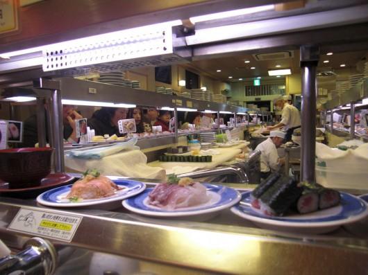 Conveyer belt sushi restaurant