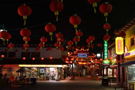 Part of Chinatown by night