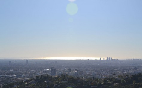 View of LA with the ocean