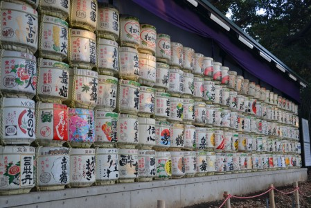 Sake barrels at Meiji-Jingu