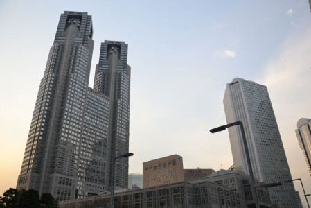 Some of the commercial towers in Shinjuku