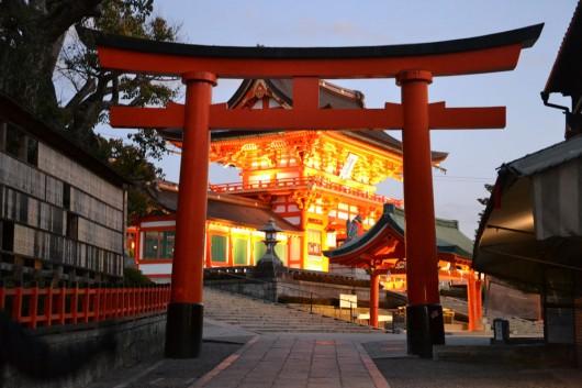 Torii gate at the entrance of Fushimi Inari-Taisha