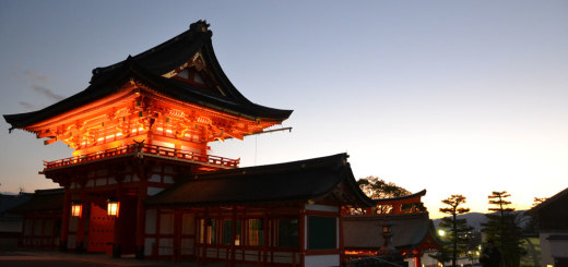 Fushimi Inari-Taisha at sunset