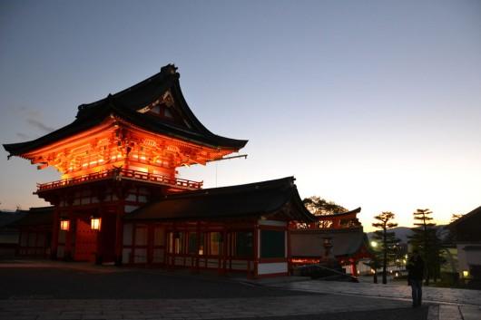 Fushimi Inari-Taisha at sunset
