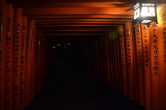 Some of the torii gates at Fushimi Inari-Taisha