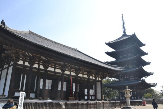 Lovely pagodas and shrines in Nara