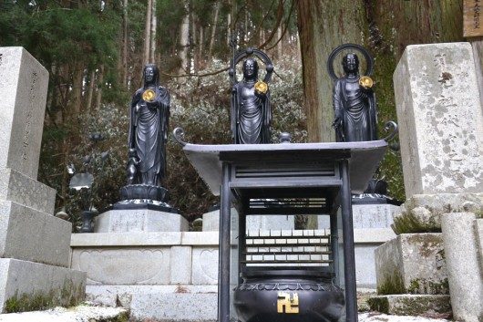 Statues in the cemetary in Koyasan