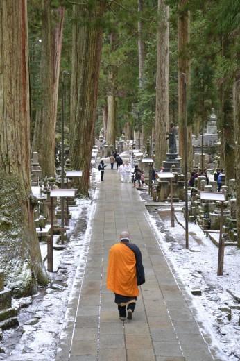 Monk at the monastery in Koya san