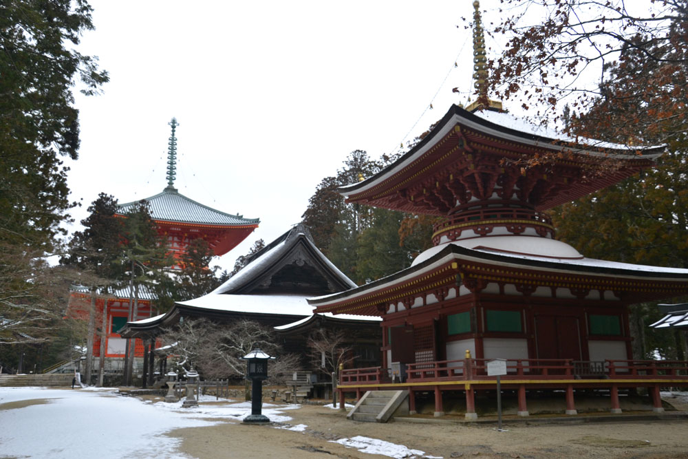 Lovely temple and shrines in Koya town