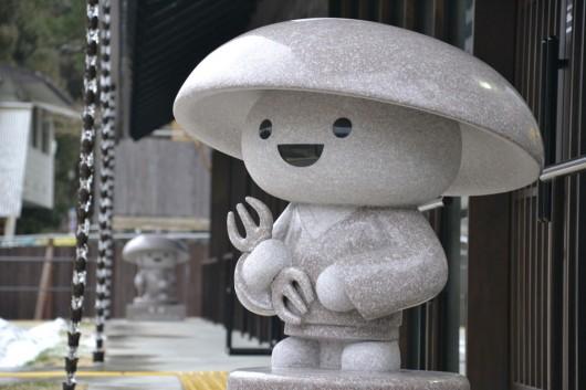 Koya san mascot statue