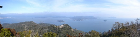View from Miyajima mountain top