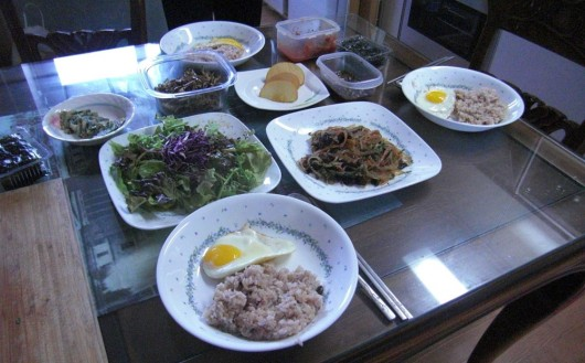 Homemade breakfast by Yoon, my CS host in Daegu