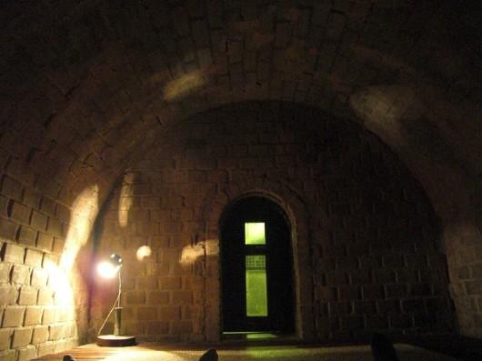 Inside the sauna-caves in jimjilbang