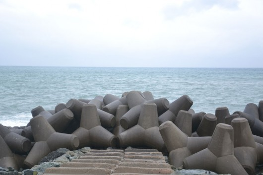 Fun looking wave breakers at coast of Busan