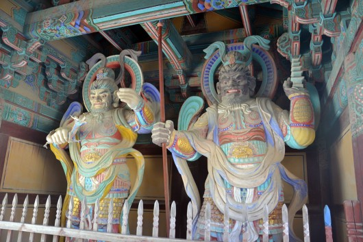 Sacred guardians of the Bulguksa temple gate