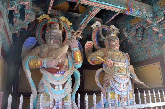 Guardians at the Bulguksa temple gate