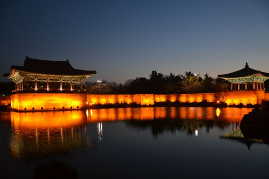 Postcard-like images and views at the Anapji pond