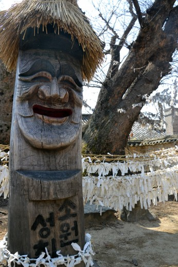 Funny looking hahoe carvings in Andong