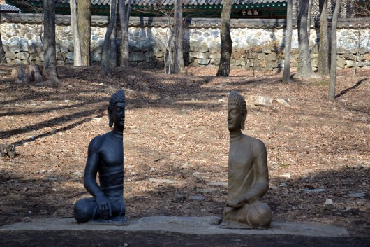 Interesting sculpture in front of Haeinsa temple