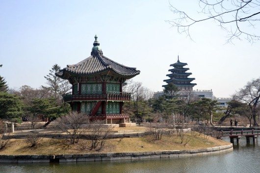 One of the many temples and shrines inside the palace grounds