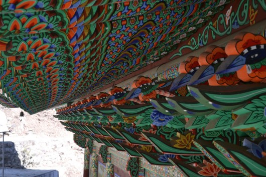 Colorful decorations on the temples