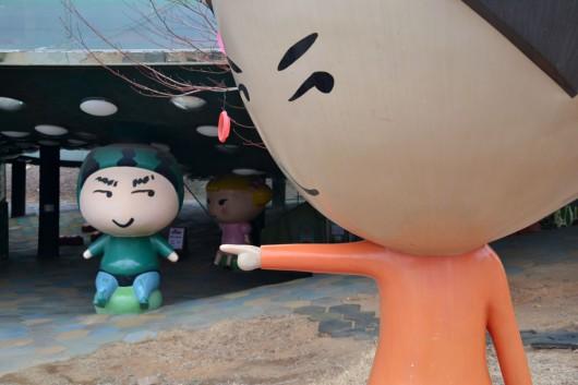 """Mascottes of the """"I like Dalki"""" playground area"""
