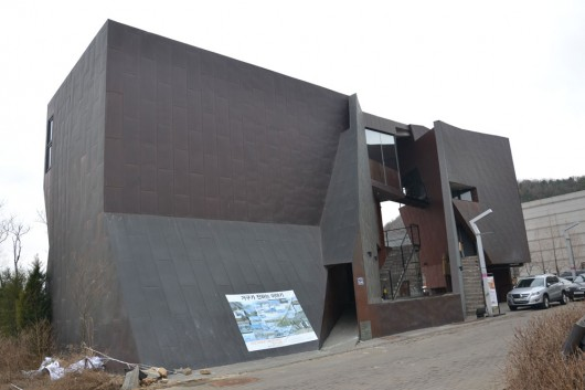 Unique building designs all over Heyri Art village