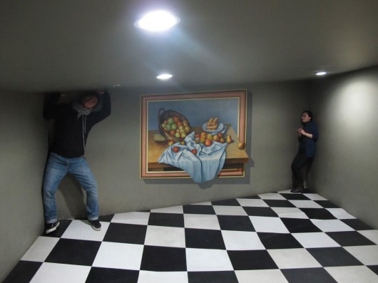 More optical illusions in trick art museum