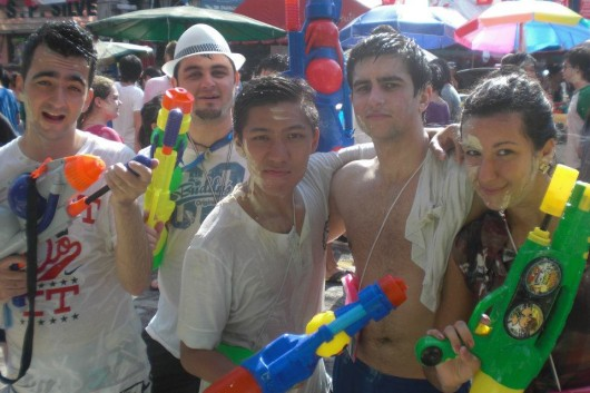 Furious five on second day of Songkran